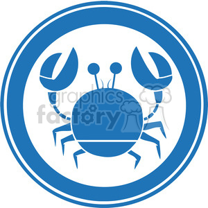 Blue-Circle-Crab-Logo clipart. Royalty-free image # 386505