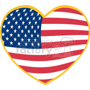 Heart-With-USA-Flag clipart. Commercial use image # 386545