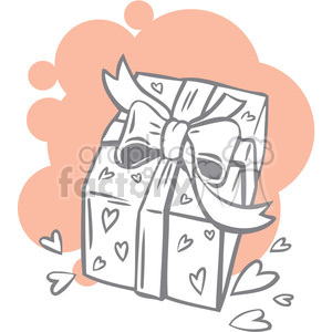 gift wrapped in hearts clipart. Royalty-free image # 386604