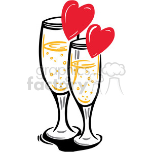 champagne glass celebrating love clipart. Royalty-free image # 386614