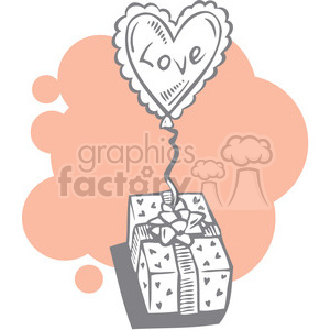 love balloon with gift clipart. Commercial use image # 386624