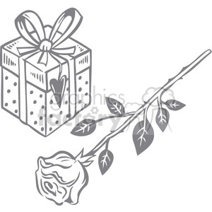 rose and a gift clipart. Royalty-free image # 386634