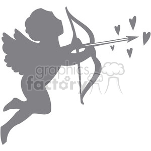 faded cupid clipart. Royalty-free image # 386644
