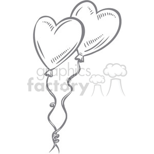 faded heart balloons clipart. Royalty-free image # 386664
