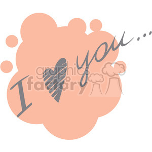 I love you clipart. Royalty-free image # 386674