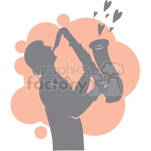 person playing a love song with a sax clipart. Royalty-free image # 386694