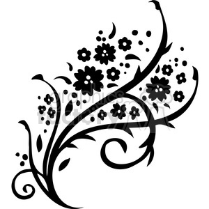 Chinese swirl floral design 041 clipart. Commercial use image # 386762