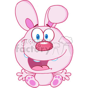 Clipart of Cute Pink Bunny Cartoon Character clipart. Royalty-free image # 386892