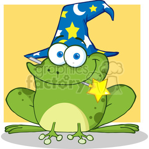 RF Wizard Frog With A Magic Wand In Mouth clipart. Commercial use image # 386912