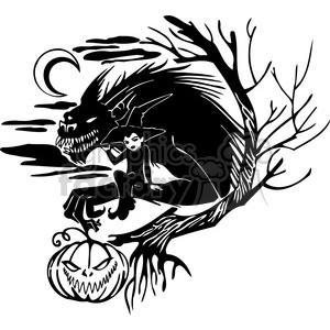 Halloween scary black+white vinyl+ready