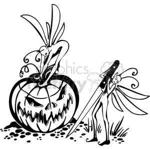 Halloween clipart illustrations 032 clipart. Royalty-free image # 387082