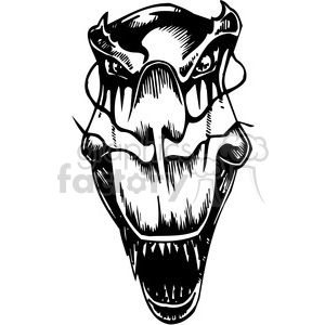 dinosaur head design clipart. Commercial use image # 387093