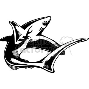 shark design clipart. Commercial use image # 387103