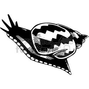 vinyl-ready black+white tattoo design animals creatures agressive wild snail