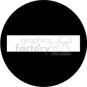 black circle minus sign clipart