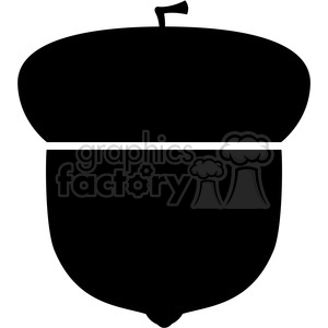 clip art of black acorn symbol vector illustration clipart. Royalty-free image # 387183
