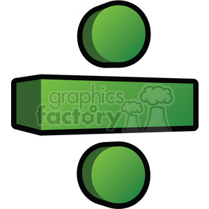 3d division sign clipart