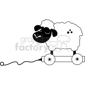 Pull Toy Sheep 2 clipart. Royalty-free image # 387203