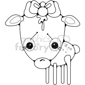 Deer Faun Girl clipart. Commercial use image # 387213