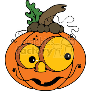 Pumpkin Happy in color clipart. Royalty-free image # 387223