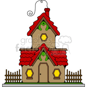 Cottage in color clipart. Royalty-free image # 387253