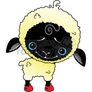 Sheep WhiteBlack Faced in color clipart. Commercial use image # 387263