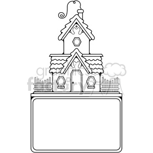 Cottage Sign outline clipart. Royalty-free image # 387303