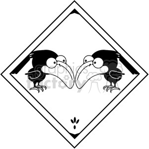 Crow 3 Sign clipart. Royalty-free image # 387313