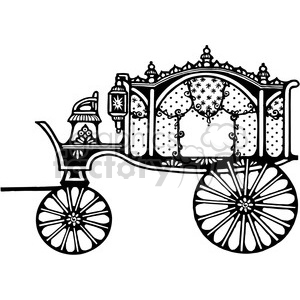 Antique Hearse 1 clipart. Royalty-free image # 387367