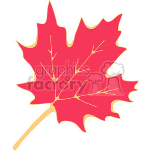 red Sugar Maple Leaf clipart. Commercial use image # 387408