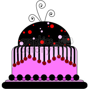 pink party cake clipart. Royalty-free image # 387419