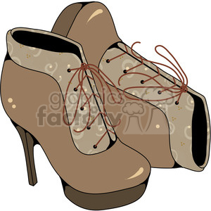 Ladies Boots Colored clipart. Commercial use image # 387447