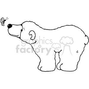 Polar Bear watching a butterfly clipart. Royalty-free image # 387453