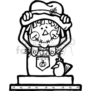 SMORE Scarecrow clipart. Commercial use image # 387502