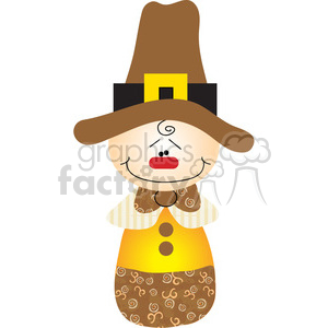 Pilgrim Boy 02 COL clipart. Royalty-free image # 387512