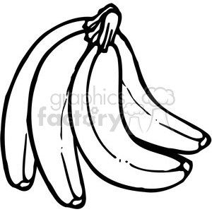 Banana 3 Bunch clipart. Royalty-free image # 387542