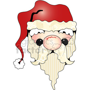 Santa Head clipart. Commercial use image # 387574