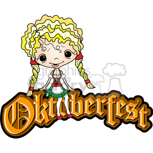 Oktoberfest with girl clipart. Royalty-free image # 387613