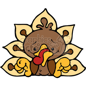 cartoon turkey Thanksgiving bird birds
