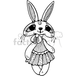 Bunny Rabbit Doll clipart. Royalty-free image # 387647