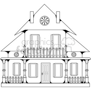 House with Porch clipart. Royalty-free image # 387666