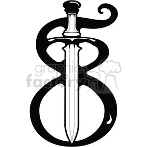 Number 8 Sword clipart. Royalty-free image # 387672