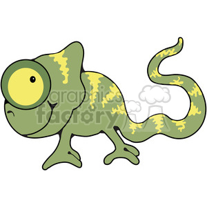 green Chameleon clipart. Royalty-free image # 387741