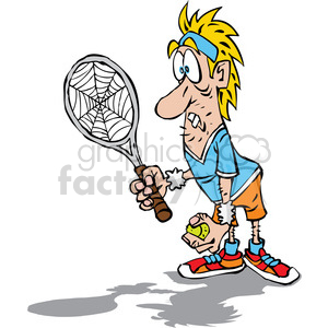 cartoon tennis player clipart. Commercial use image # 387770