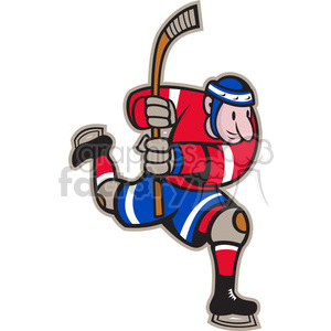 hockey player skating after the puck clipart. Royalty-free image # 387883