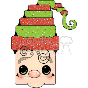 Elf Head clipart clipart. Commercial use image # 387975