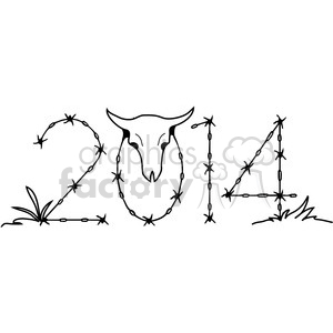 2014 barbed wire western clipart clipart. Royalty-free image # 387980