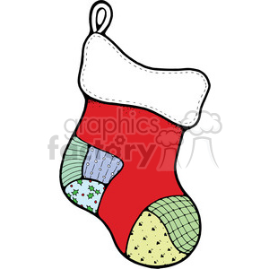 red Christmas Stocking 01 clipart clipart. Royalty-free image # 388019