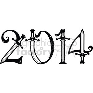 2014 swords clipart