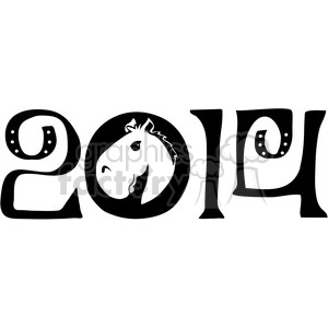 2014 horse clipart